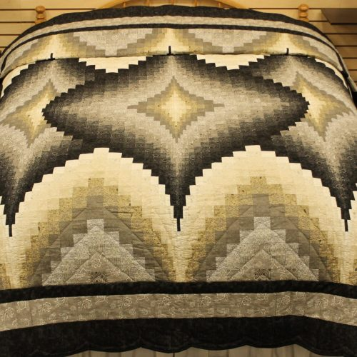 Argyle quilt for sale - Neutral Argyle Quilt - Family Farm Quilts of Shady Maple