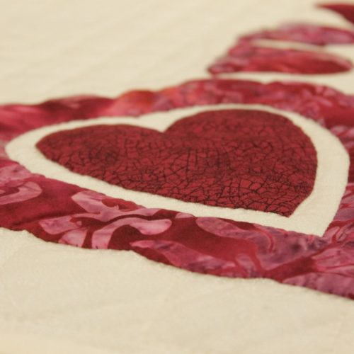 Pink Heart Quilt - Family Farm Quilts of Shady Maple