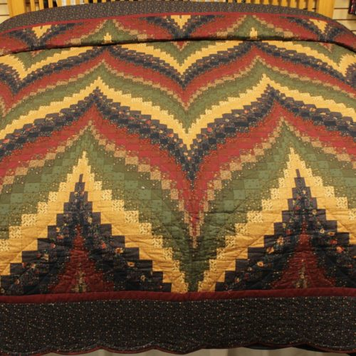 King quilt - Bargello Flame Quilt - Family Farm Quilts of Shady Maple