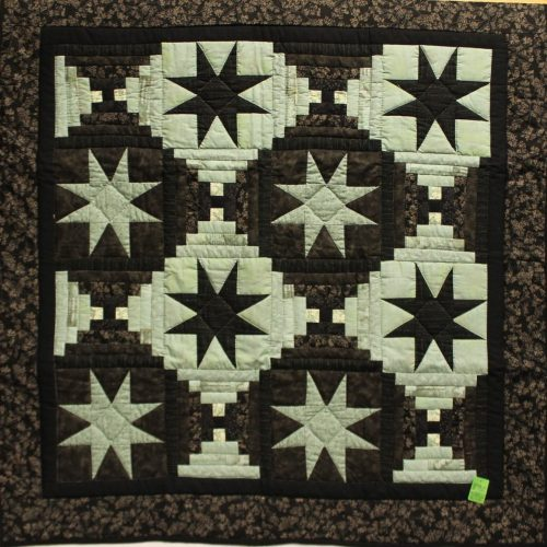Amish wall quilts - Eight-point Star wall hanging- Family Farm Quilts of Shady Maple