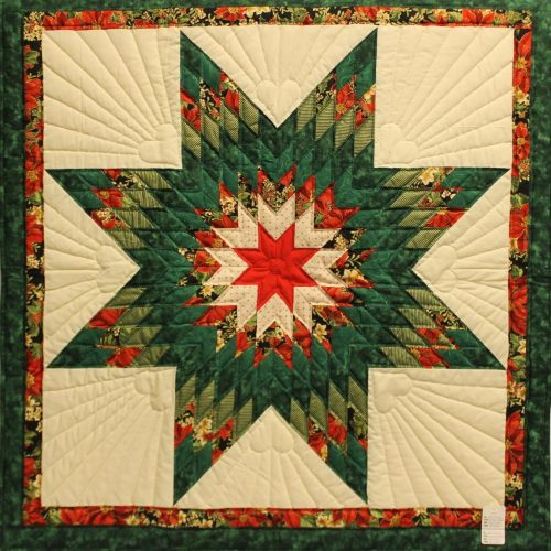 Christmas Star Wall hanging for sale - Family Farm Quilts of Shady Maple
