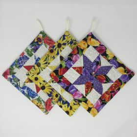 Quilted Star Potholders-Family Farm Handcrafts