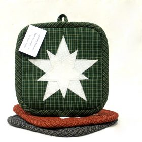 Appliqued Star Potholders - Handmade Potholder - Family Farm Quilts