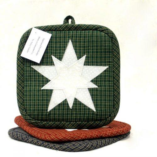 Appliqued Star Potholders - Handmade Potholder - Family Farm Quilts
