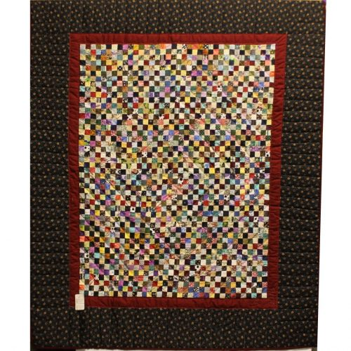 Small throw quilt- Postage Stamp Throw Quilt - Family Farm Quilts of Shady Maple