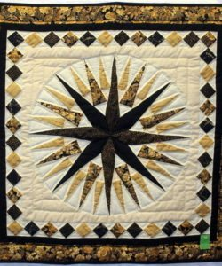 Quilted wall hanging - Mariner's Compass Wall hanging