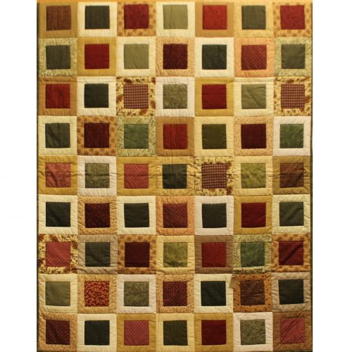 Block Quilt for sale - Block Party Throw - Family Farm Quilts of Shady Maple