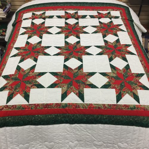 Christmas Colonial Star Quilt-Queen-Family Farm Handcrafts