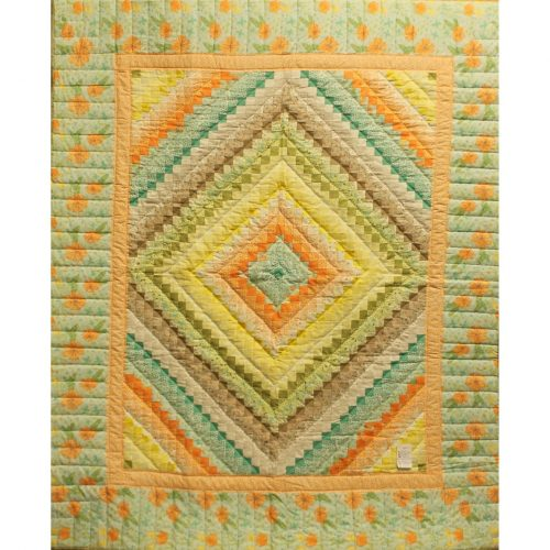 Pastel Quilt - Postage Stamp Throw Quilt - Family Farm Quilts of Shady Maple