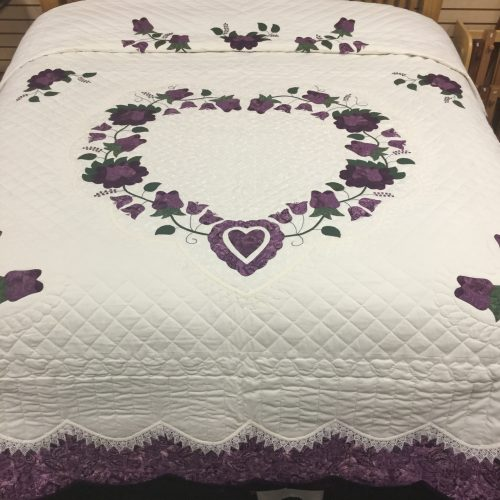 Lacy Heart of Roses Quilt-King-Family Farm Handcrafts