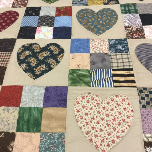 Country Hearts Quilt-Twin-Family Farm Handcrafts