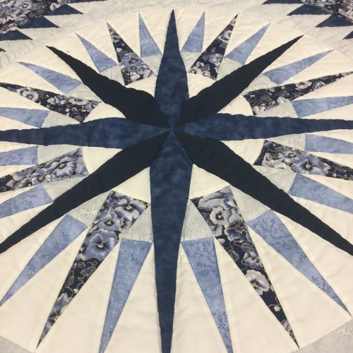 Mariner's Compass Quilt-Twin-Family Farm Handcrafts