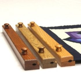 "quilt hangers- 24"" Quilt hanger - oak stained quilt hangers for sale- handcrafted"