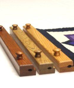"small quilt hanger- 20"" oak quilt hanger- handcrafted"