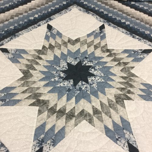 Star Postage Stamp Quilt-King-Family Farm Handcrafts