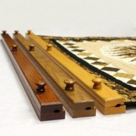 """Handcrafted quilt hanger- 46"""" wooden oak quilt hanger"""