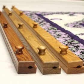 "Quilt hangers for sale- 54"" oak quilt hanger"