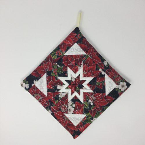 Christmas Folded Star Hot Mat-Family Farm Handcrafts