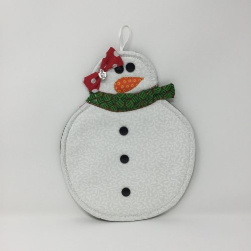 Snowman Potholder-Family Farm Handcrafts