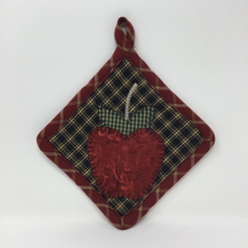 Mini Appliqued Potholder-Family Farm Handcrafts