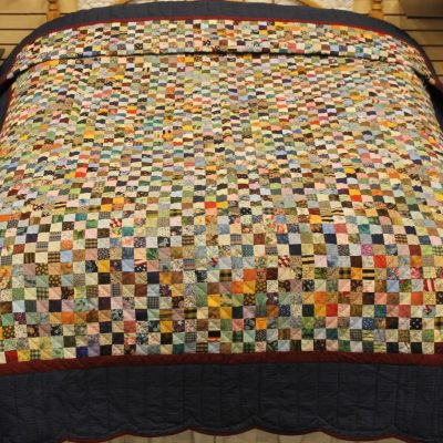 Scrap amish quilt pattern design style