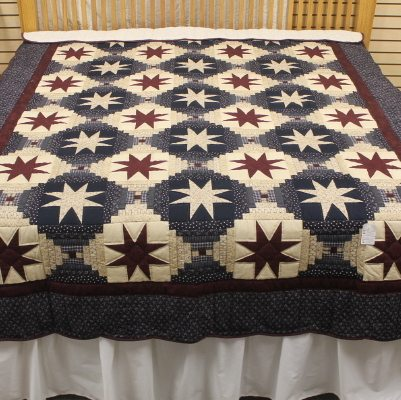 Eight-point Star- single quilts | twin-size bed
