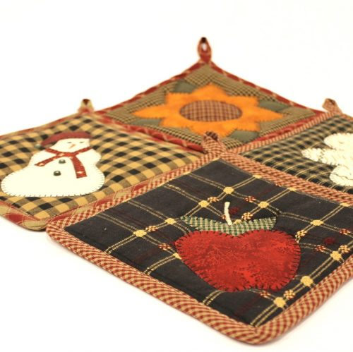 Handmade Potholders for Sale - Appliqued Potholders - Family Farm Quilts of Shady Maple