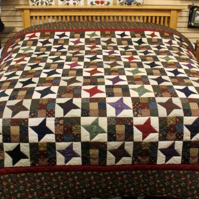 ancient star amish quilt pattern design style