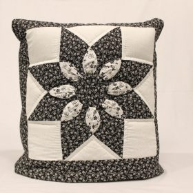 Dahlia Quillows for sale - Black and White Quillow - Family Farm Handcrafts