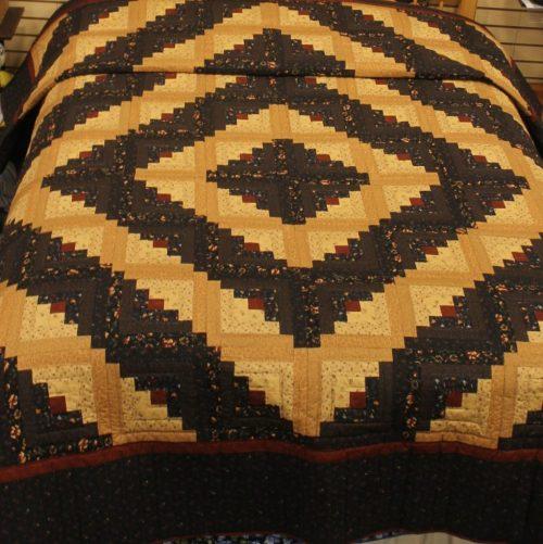 Log Cabin Quilts- Queen Kansas Trouble Fabrics