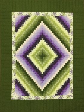 Postage Stamp Throw Quilt-Family Farm Handcrafts