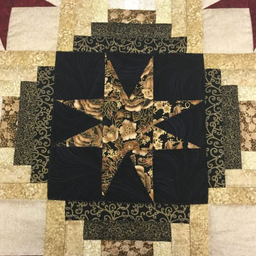 Eight Point Star Quilt-Queen-Family Farm Handcrafts