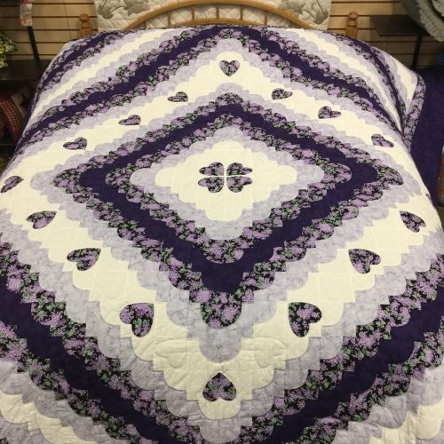 Hearts All Around Quilt-King-Family Farm Handcrafts