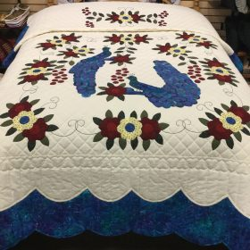 Peacock Quilt-Family Farm Handcrafts-Queen