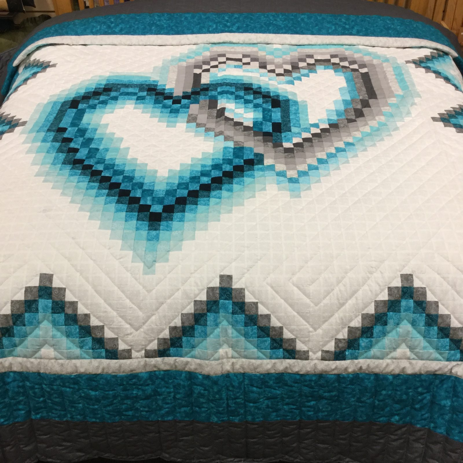 Homemade Quilts For Sale >> Linking Hearts Quilt | Family Farm Handcrafts | King