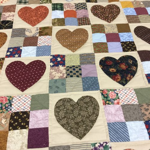 Country Hearts Quilt - King - Family Farm Handcrafts
