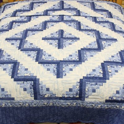 log cabin amish quilt pattern design style