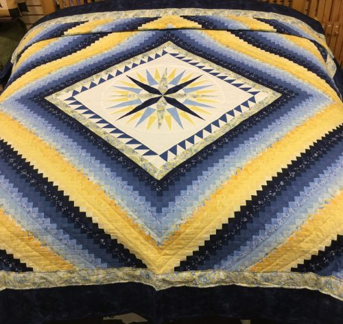 Mariner's Postage Stamp Quilt - King - Family Farm Handcrafts