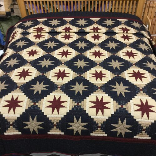 Eight Point Star Quilt - King - Family Farm Handcrafts