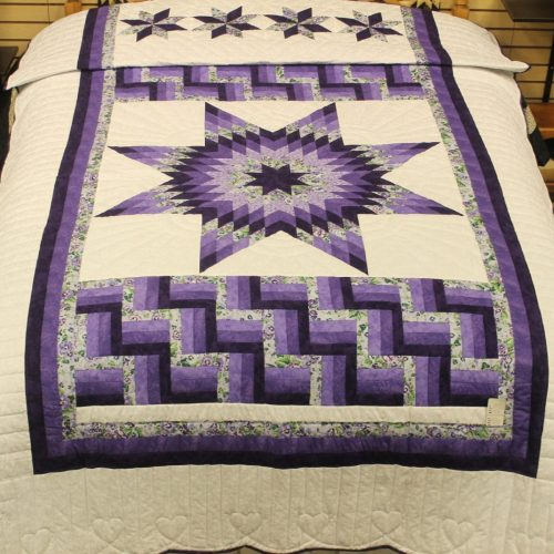 Single Bed Quilt - Lone Star Quilt - Family Farm Quilts
