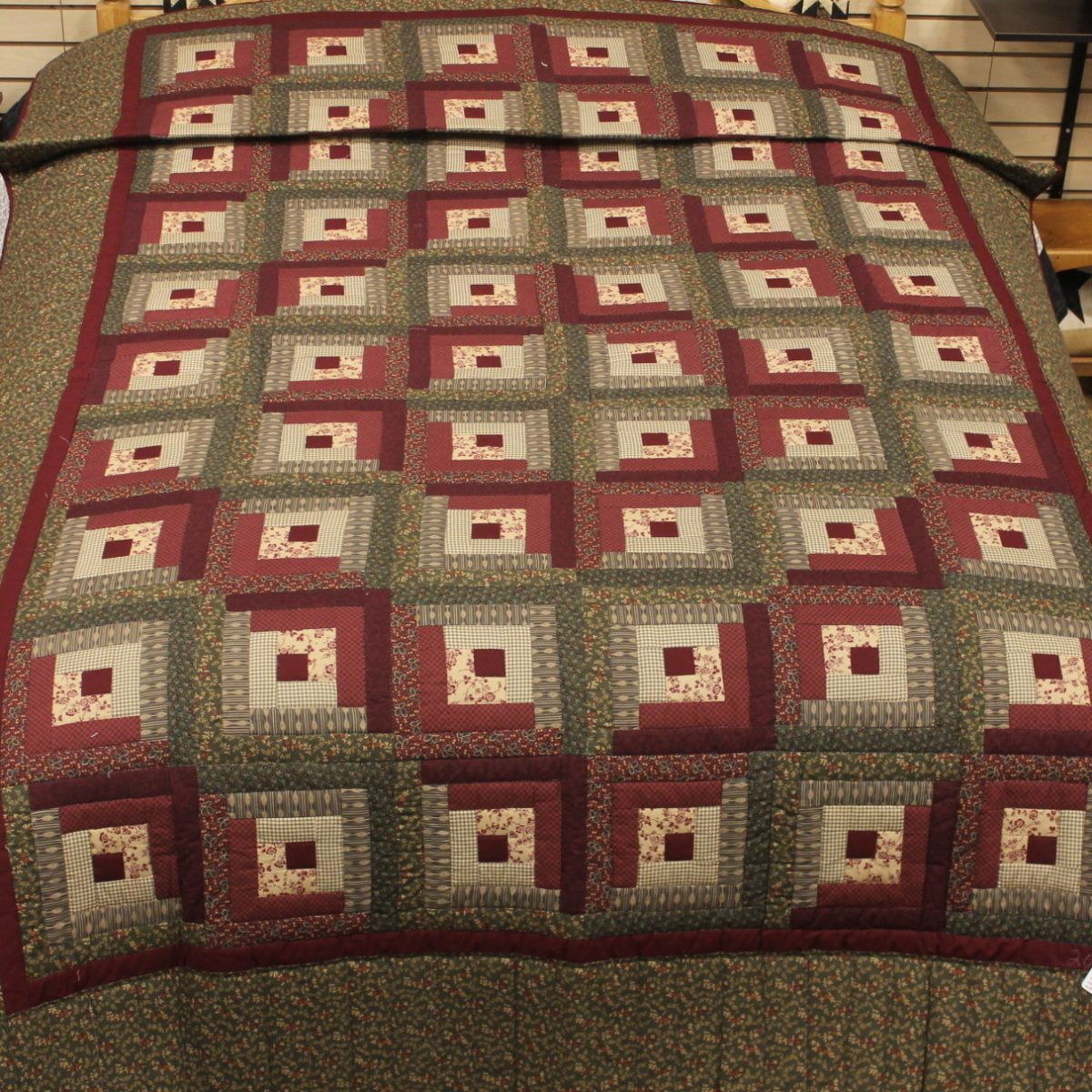 Log Cabin Quilt Twin Log Cabin Quilt Family Farm
