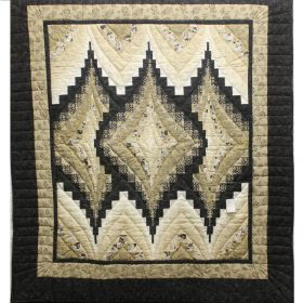 Quilted Throw - Argyle Hand Quilted Throw - Family Farm Quilts