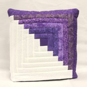 Log Cabin quillow - Purple