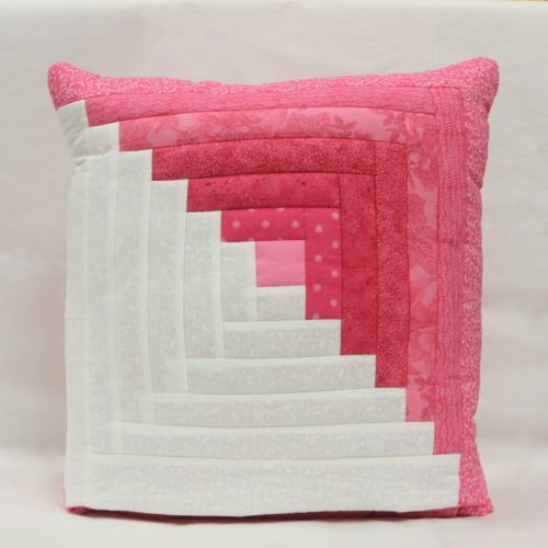 Pink Quillow - Log Cabin Quillow