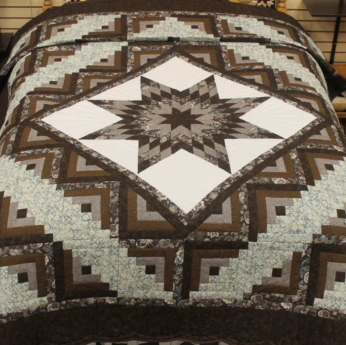 Star Log Cabin Quilt Queen Lone Star Log Cabin Family Farm Quilts