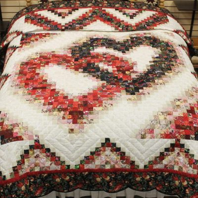 heart amish quilt pattern design style