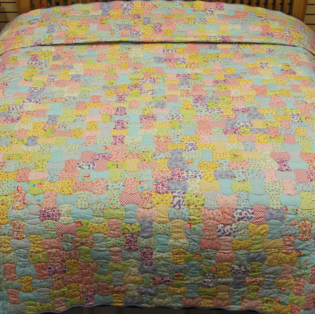 Vintage Quilts | Apple Core King Quilt with 30's fabrics : vintage quilts - Adamdwight.com