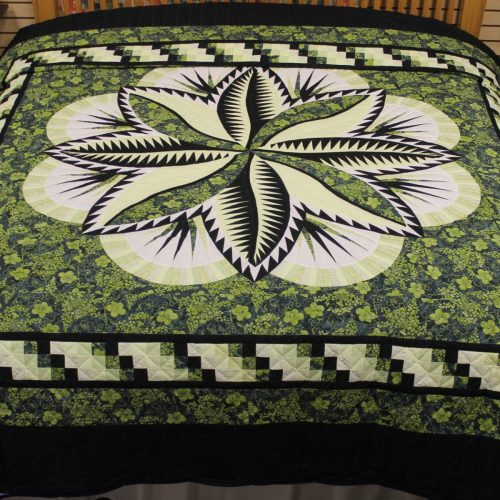 Fire Island Hosta Quilt - king- Family Farm Quilts