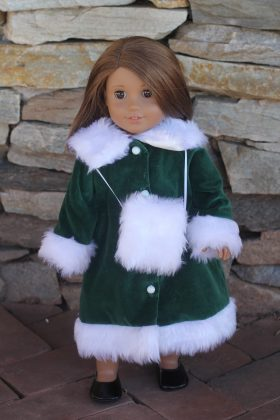 "18"" Doll Coat-Family Farm Handcrafts"