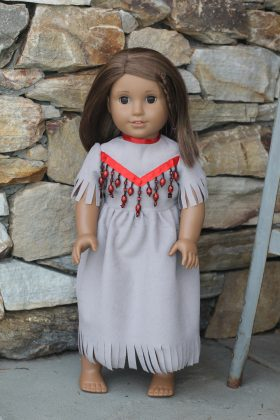 "18"" Indian Doll Dress-Family Farm Handcrafts"